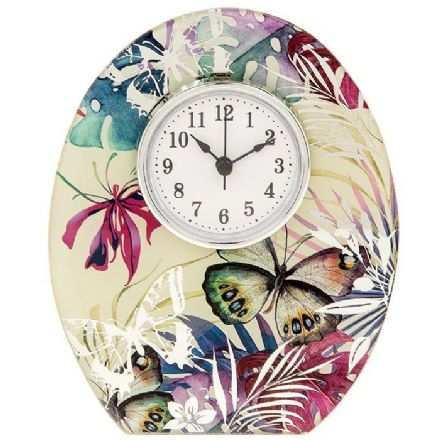 Tropical Butterfly Clock